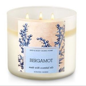 New Bath and Body Works Bergamot 3-Wick Candle